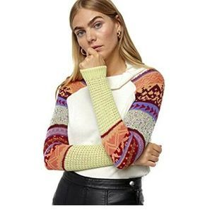 Free People Womens Prism Swit Knit Top Long Sleeve